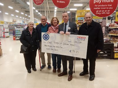Thanks to TESCO and their generous customers who supported Laois Friends